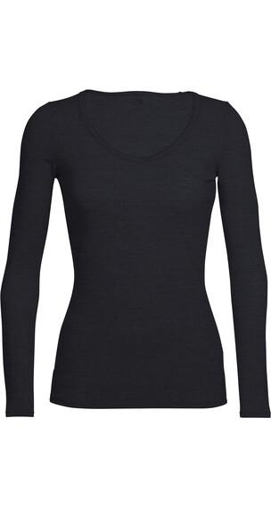 Icebreaker W's Siren LS Sweetheart Shirt Black
